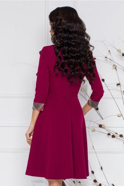 rochie dama bordo