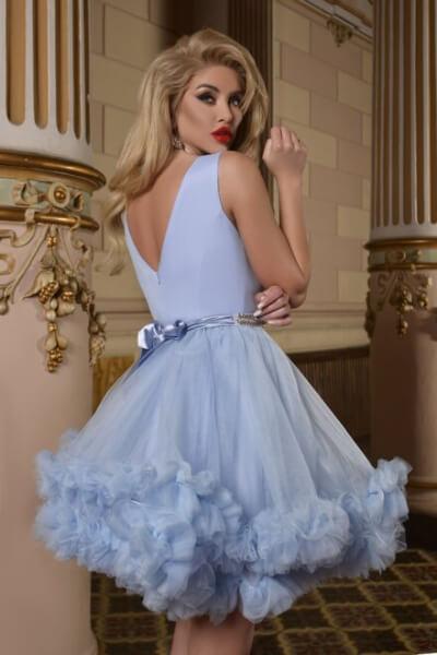 Rochie dama eleganta BLUE QUEEN
