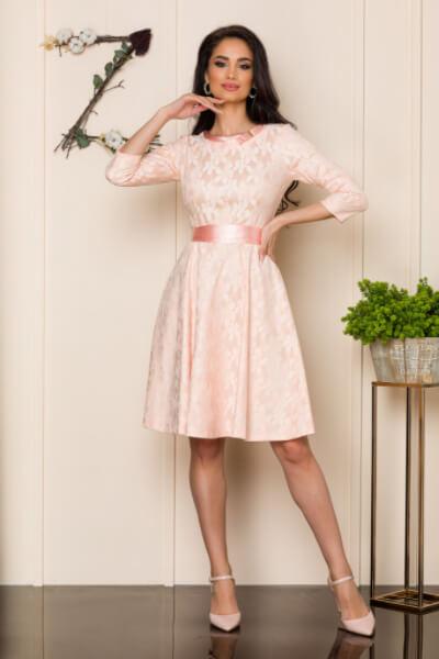 Rochie de ocazie midi roz