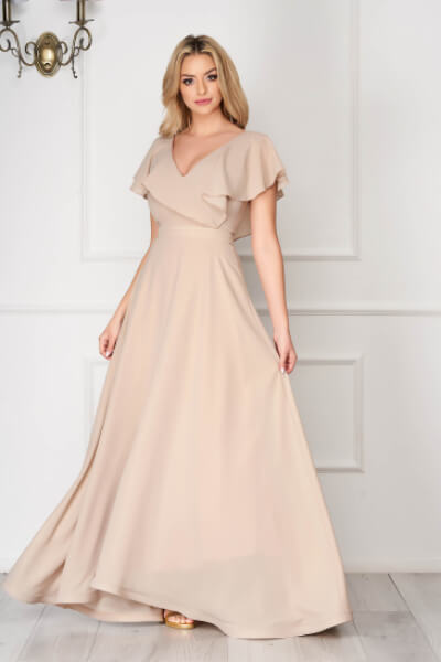 rochie crem nunta