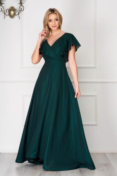 rochie de nunta verde