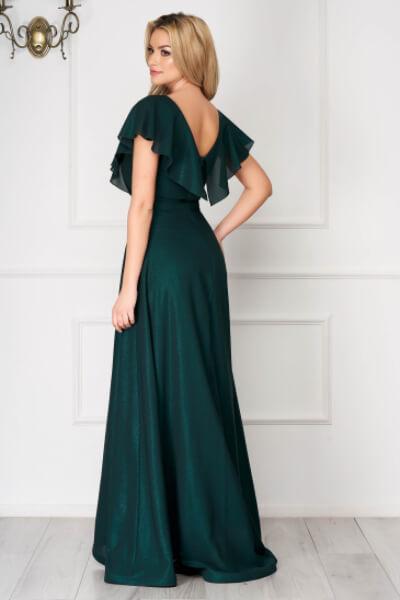 rochie de ocazie din voal verde