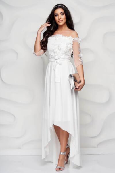 rochie de seara alba dama