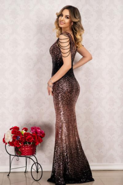 rochie de seara cu margelute