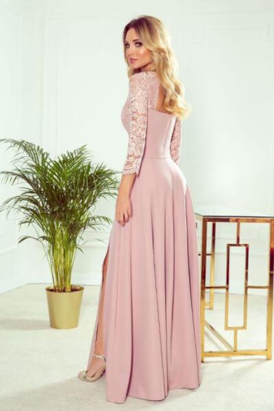 Rochie lunga eleganta roz