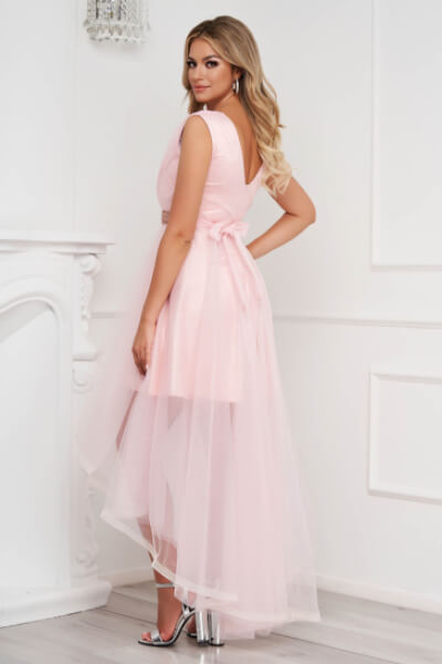 Rochie roz asimetrica