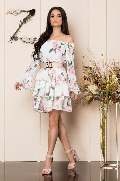 rochie Alb Floral