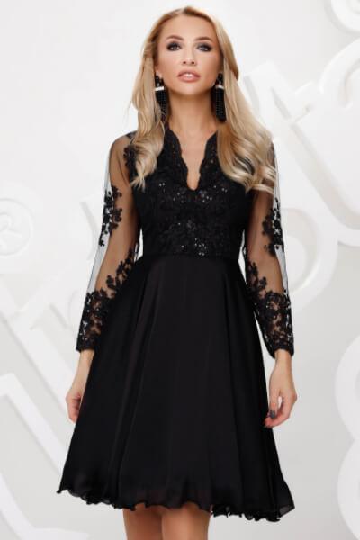 rochie dantela neagra