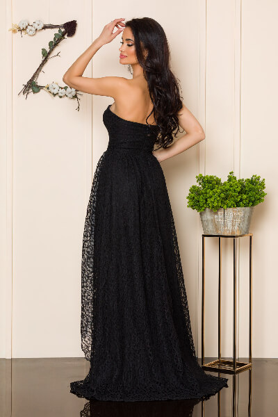 rochie neagra dantela