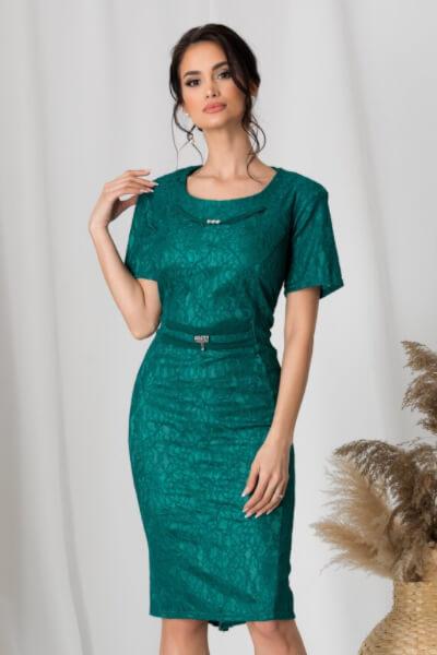 rochie verde din dantela