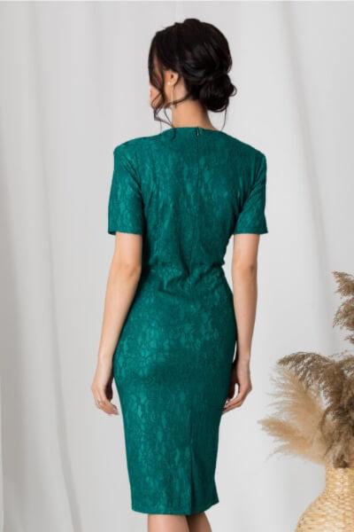 rochie verde eleganta casual