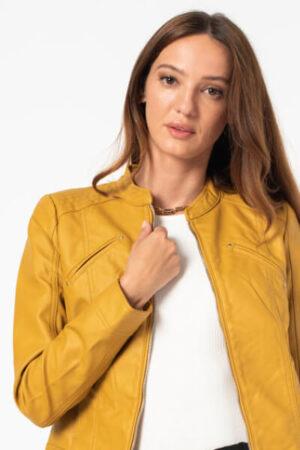 Jacheta de piele ecologica toamna