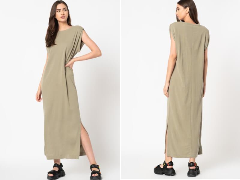 Rochie maxi cu slituri laterale gravida
