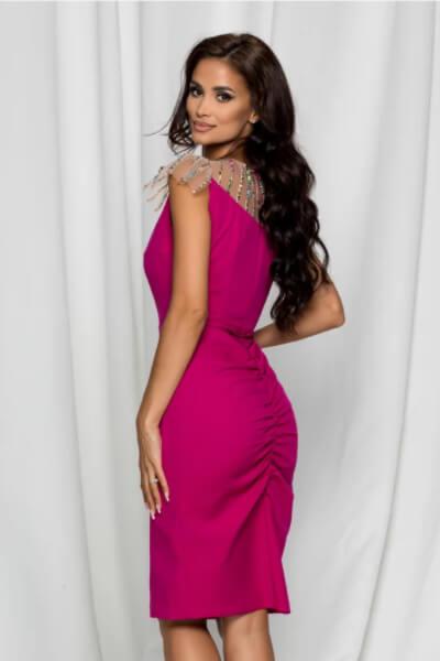 rochie rosie eleganta cununie