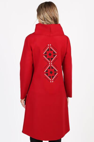 Palton rosu din lana