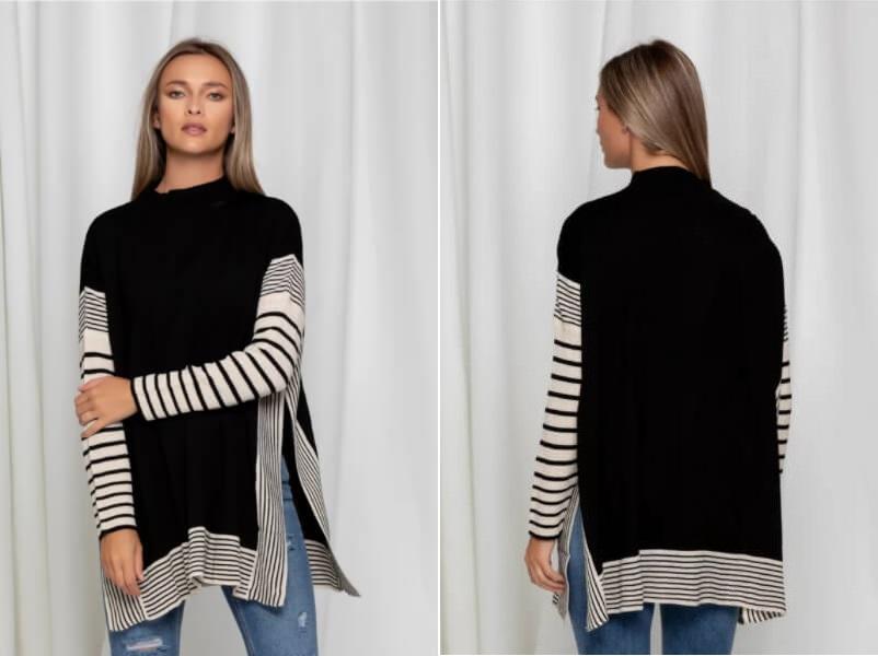 bluza-neagra-cu-imprimeuri-negre-si-crepeuri