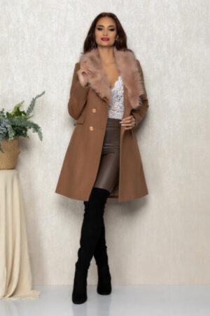 palton elegant maro dama