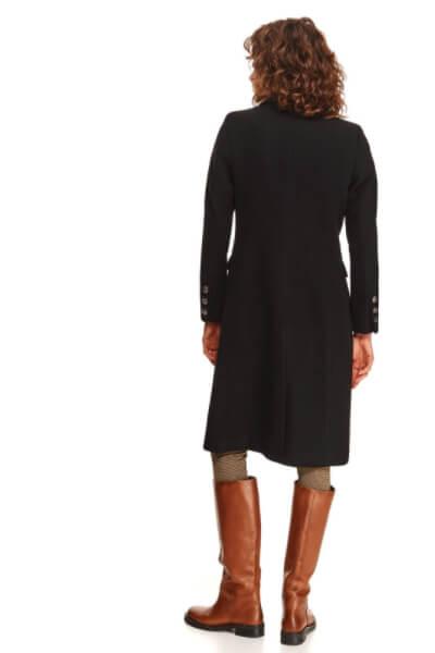 palton-negru-lung de iarna