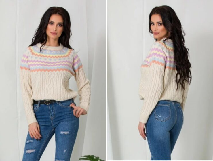 pulover-bej-cu-imprimeuri-geometrice