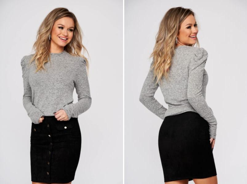 pulover-top-secret-gri-casual-cu-umeri