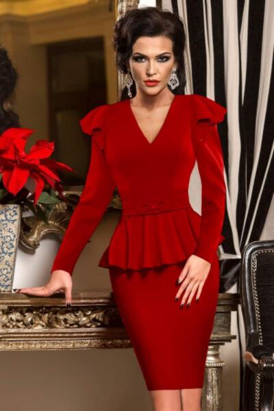 rochie-de-ocazie-eleganta-conica-rosie-cu-peplum