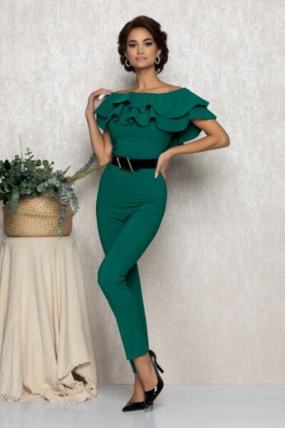 salopeta verde dama eleganta